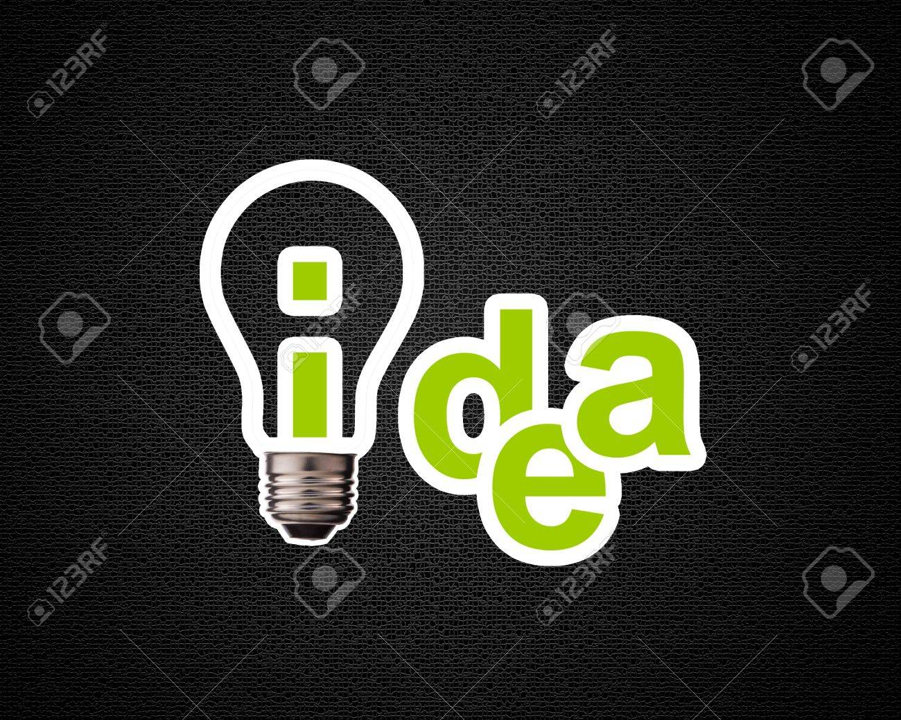 Idea word with lightbulb. Stock Photo - 15551307