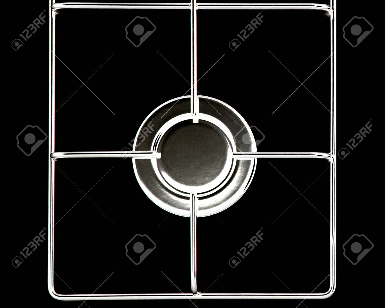 Stainless steel gas hob or stove. Stock Photo - 15787116