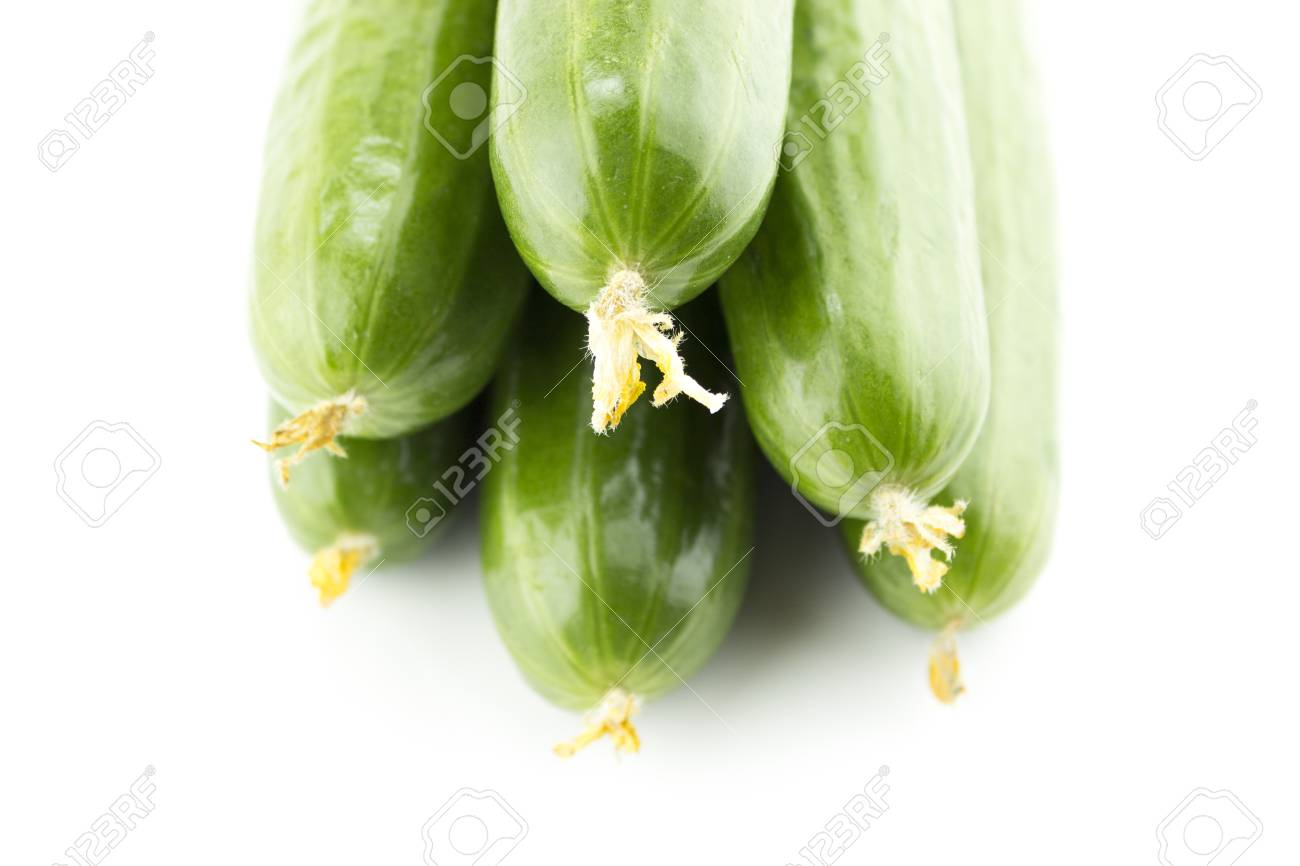 Fresh Cucumber on white background. Stock Photo - 24050203