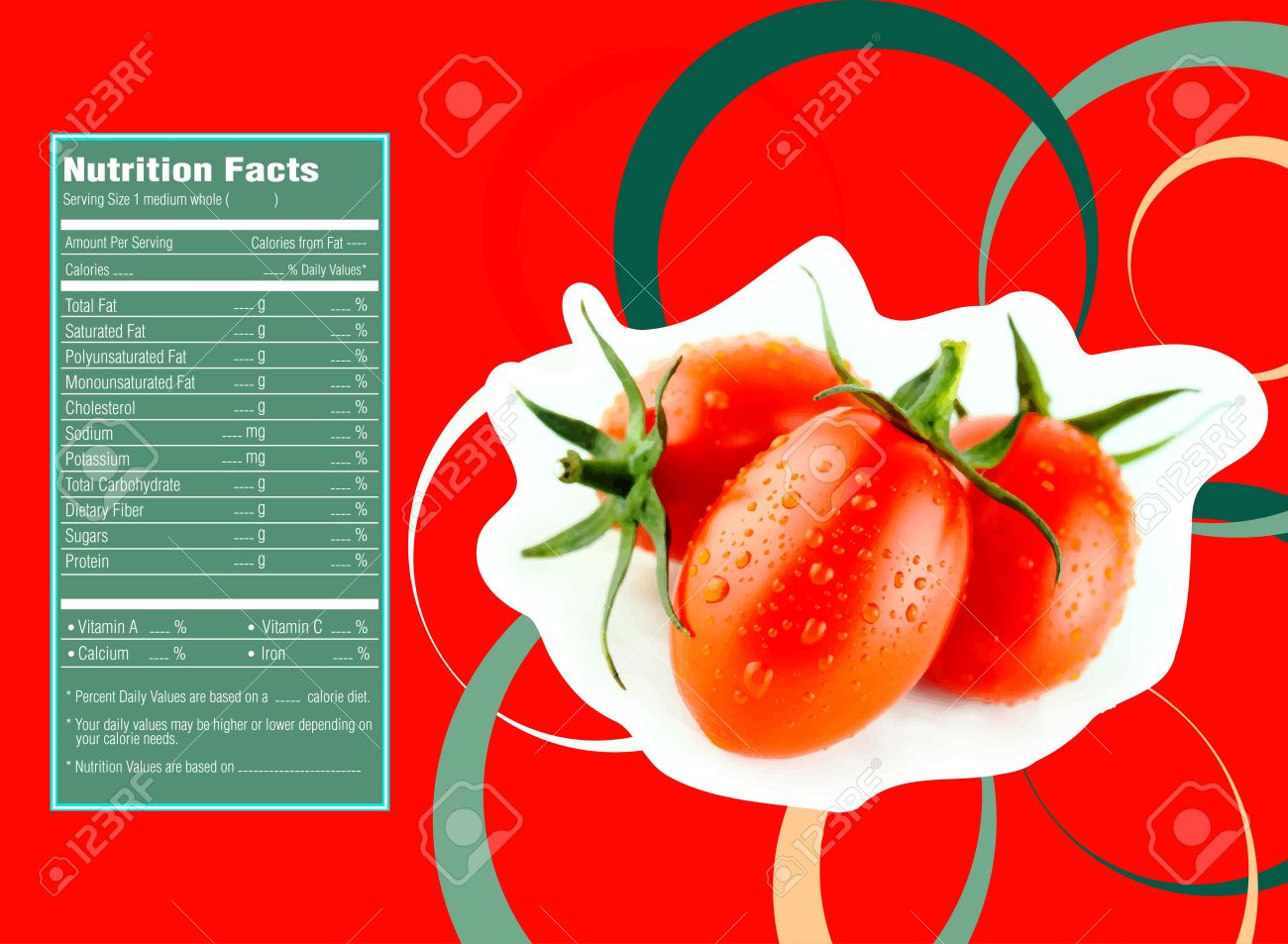Cherry Tomatoes Nutrition Facts Stock Photo Picture And Royalty Free Image Image 30788455