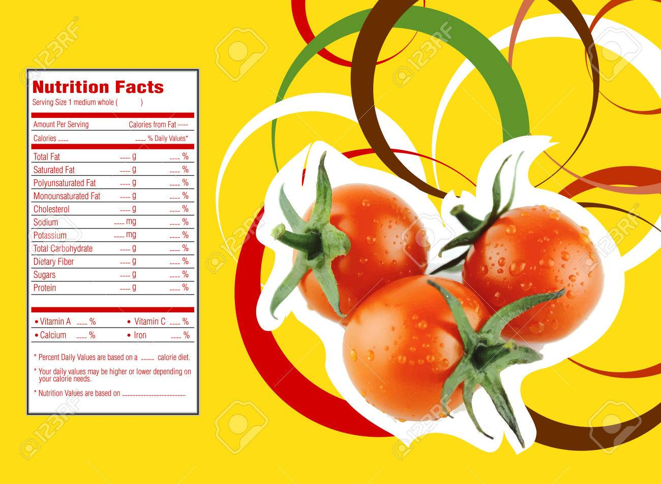 Cherry Tomatoes Nutrition Facts Stock Photo Picture And Royalty Free Image Image 30789143