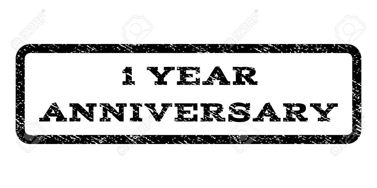 Sello De Marca De Agua De 1 Año De Aniversario. Título Del Texto ...