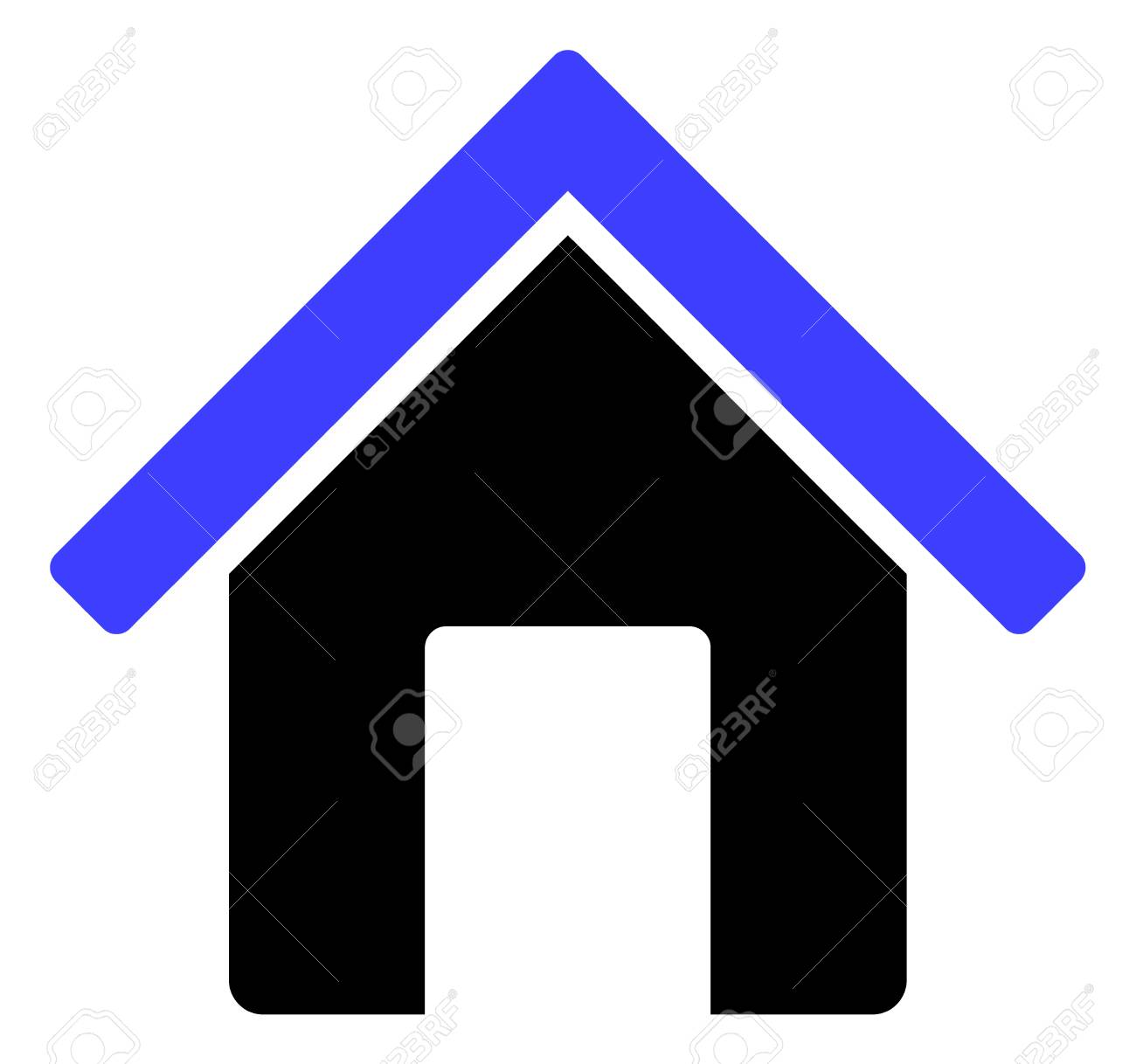 Home icon on a white background. Isolated home symbol with flat style. - 128561711