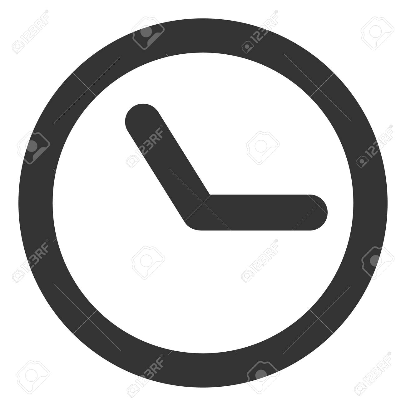 Clock icon on a white background. Isolated clock symbol with flat style. - 158873908