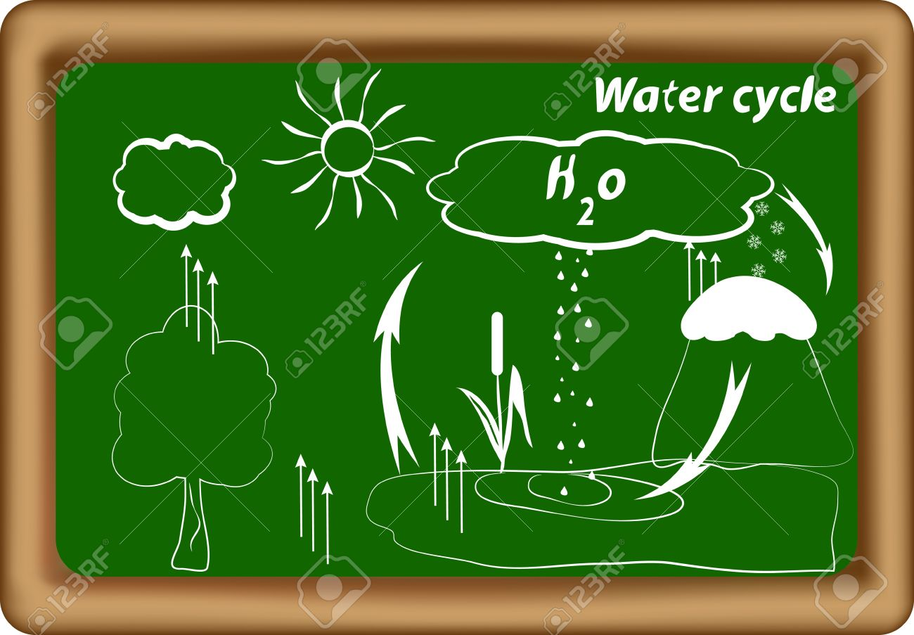 water cycle  hydrological cycle  H2O cycle  Vector Stock Vector - 14524007