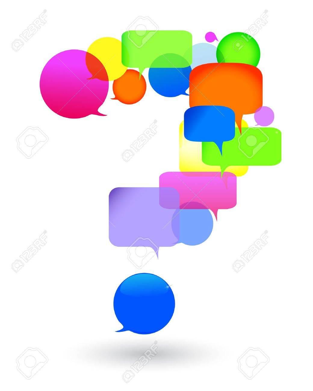 Speech bubble questions and answers  social networks  talk bubbles Stock Vector - 14700456