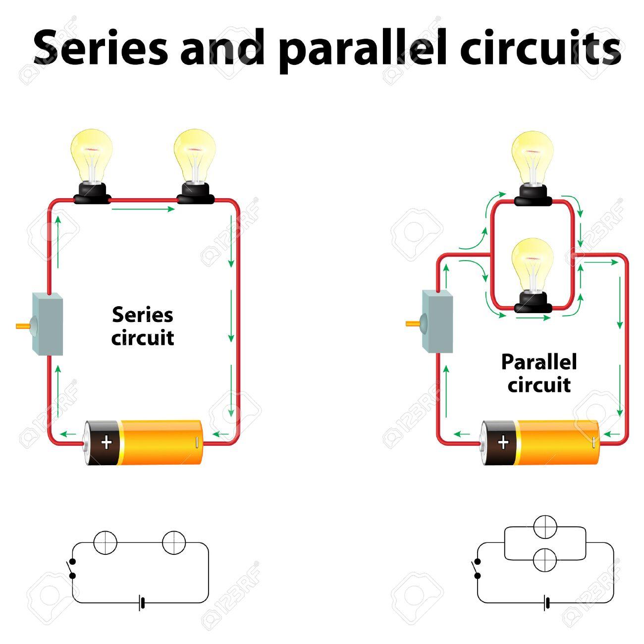 Series Et Circuits Parallles En Srie Sont Relies Le Long Dun In A Parallel Circuit Trajet Unique De Sorte Que Mme Courant Circule Travers Tous Les Composants