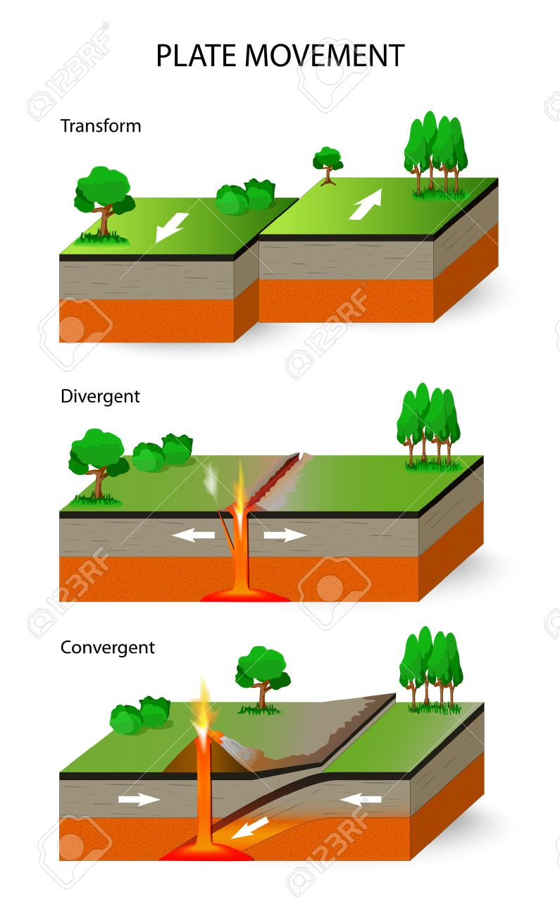 Plate movement a cross section illustrating the main types of a cross section illustrating the main types of tectonic plate boundaries convergent ccuart Image collections