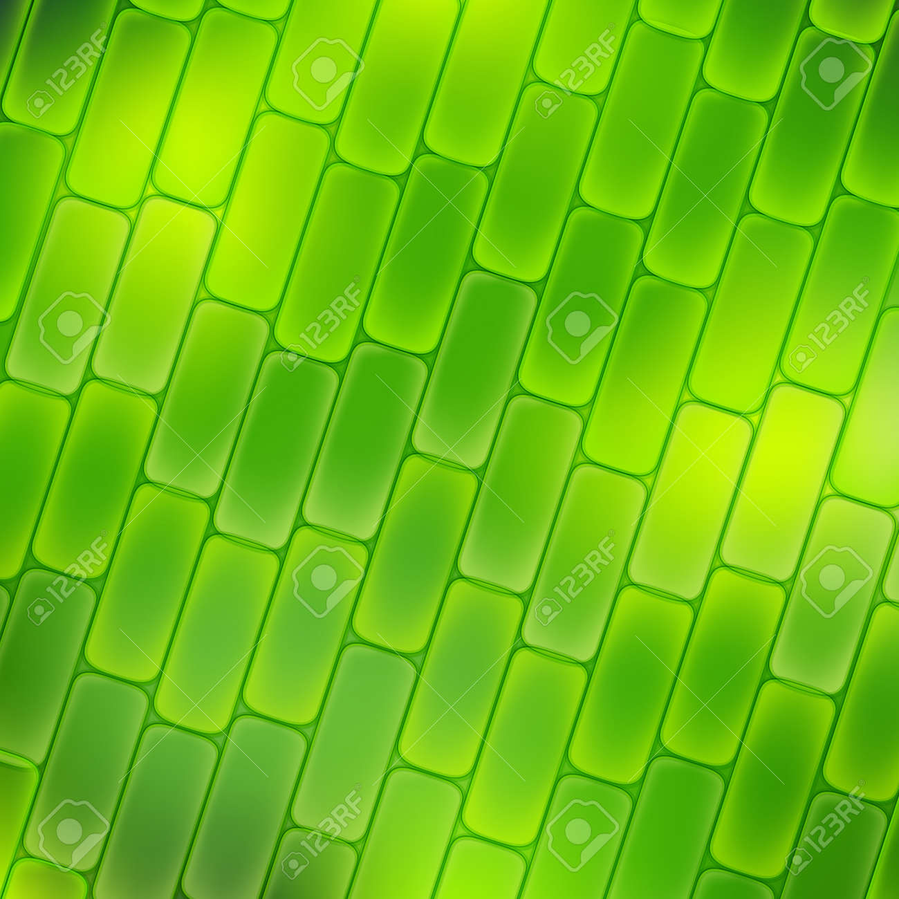 plant cell magnification. green background. Vector illustration - 173611398