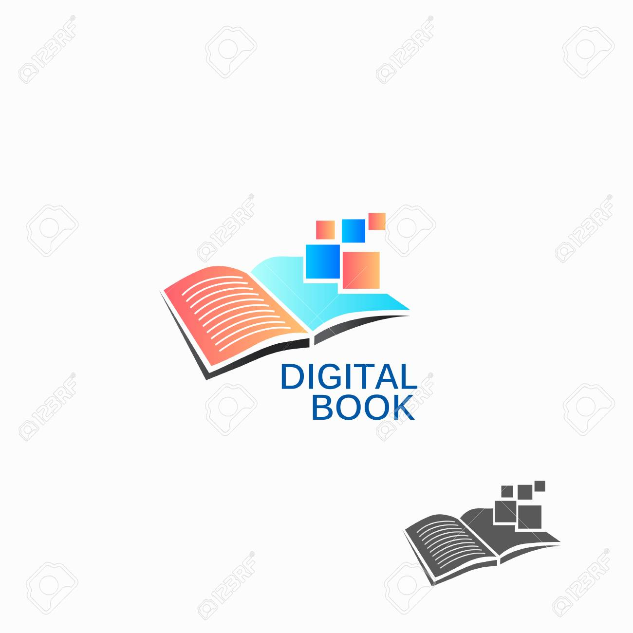 Digital Book Colored Logo