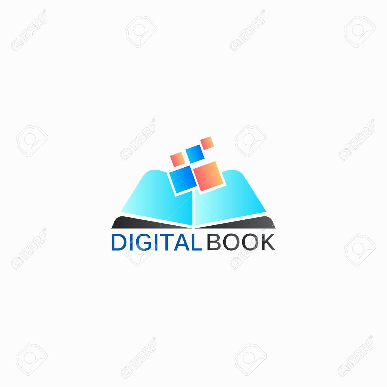 Digital Book Vector Logo