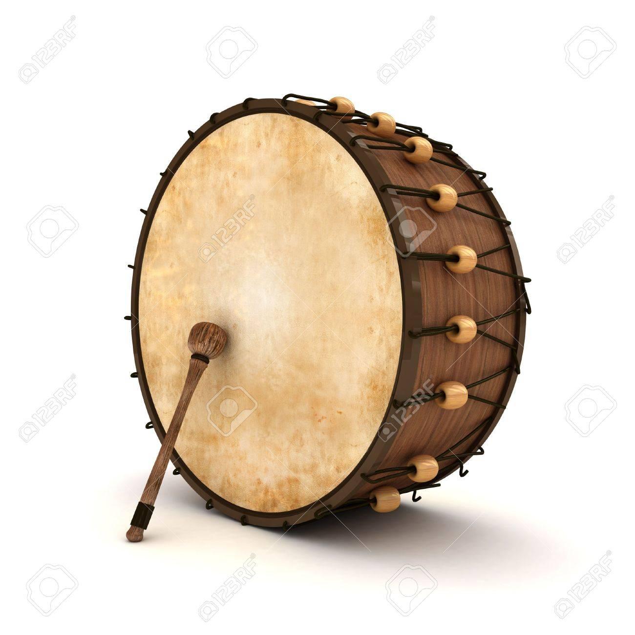 Ramadan drum 3D Rendered Isolated Stock Photo - 11446968