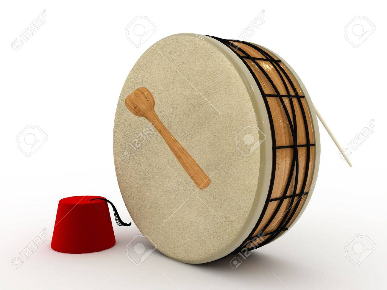 3d ramadan drum Stock Photo - 11447074