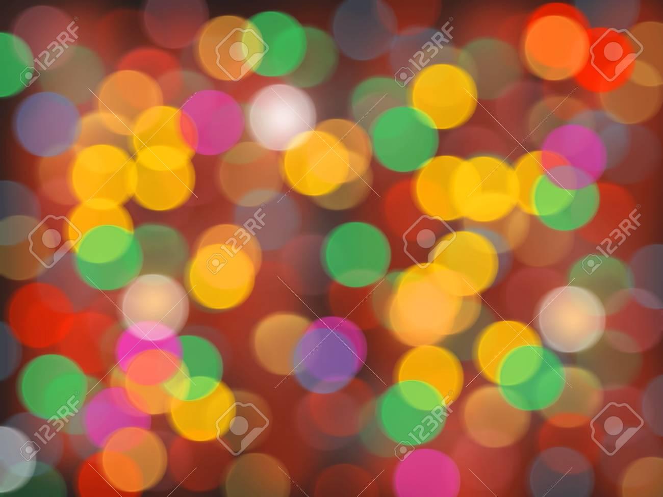 Abstract circular bokeh background of Christmaslight Stock Photo - 20162743