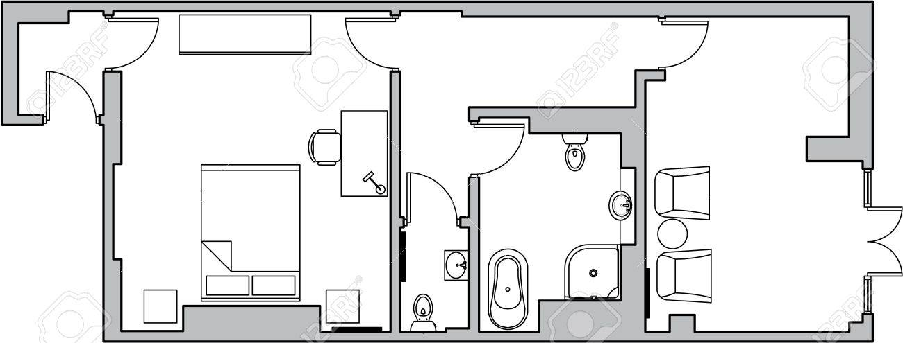 stock photo floor plan design