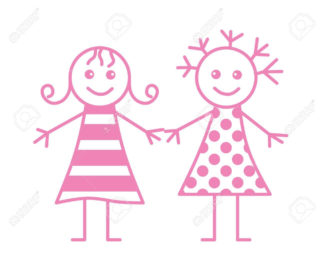 Two little girls - 6569701