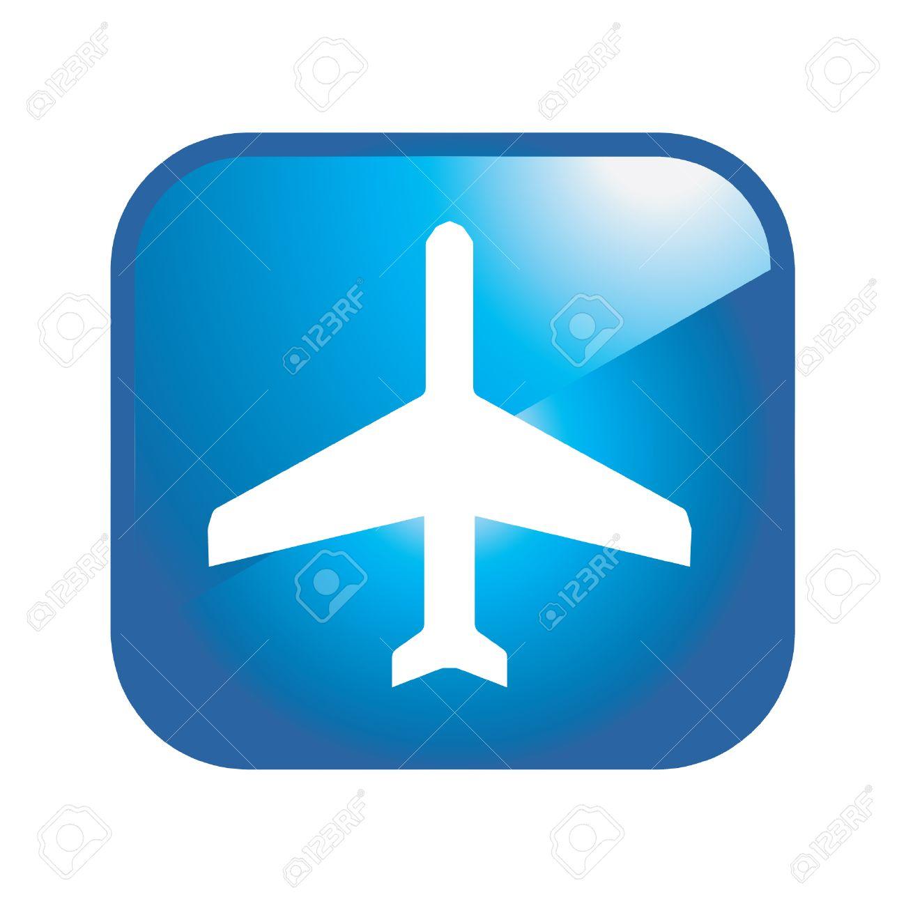 airplane icon Stock Vector - 8883473