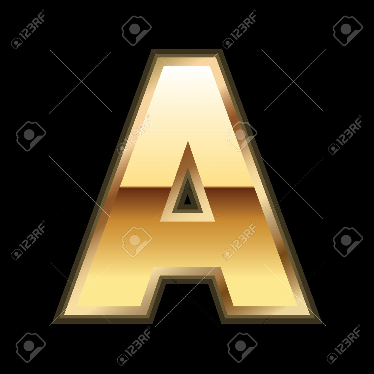 a gold letter stock vector 9835974