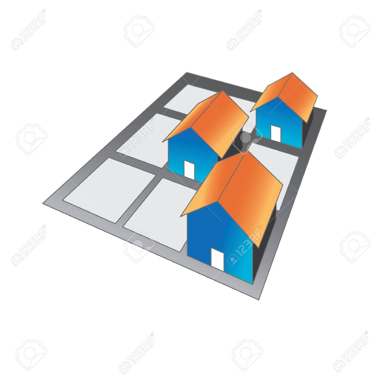 Group of houses Stock Vector - 10836985