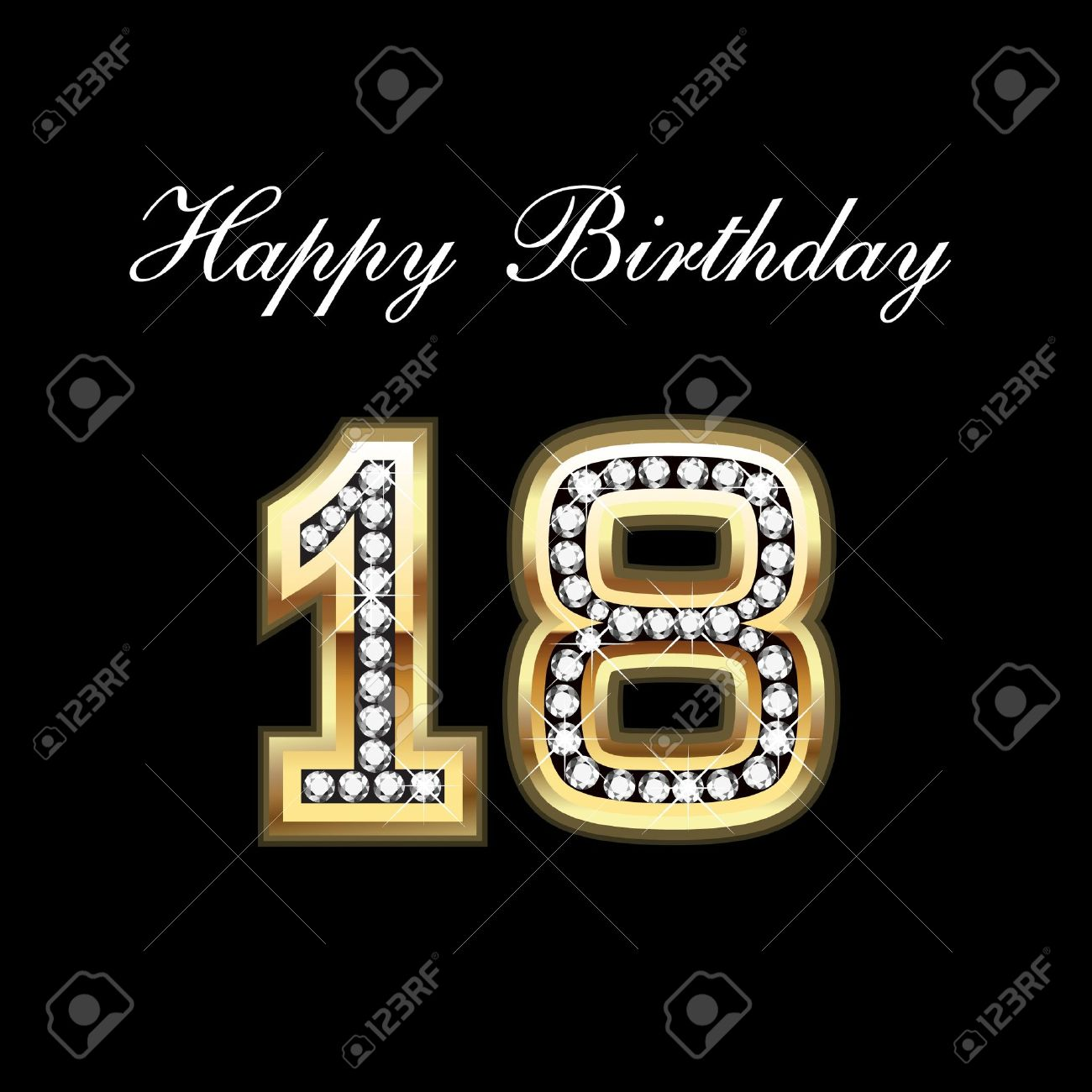 Happy Birthday 18 Royalty Free Cliparts, Vectors, And Stock ... on