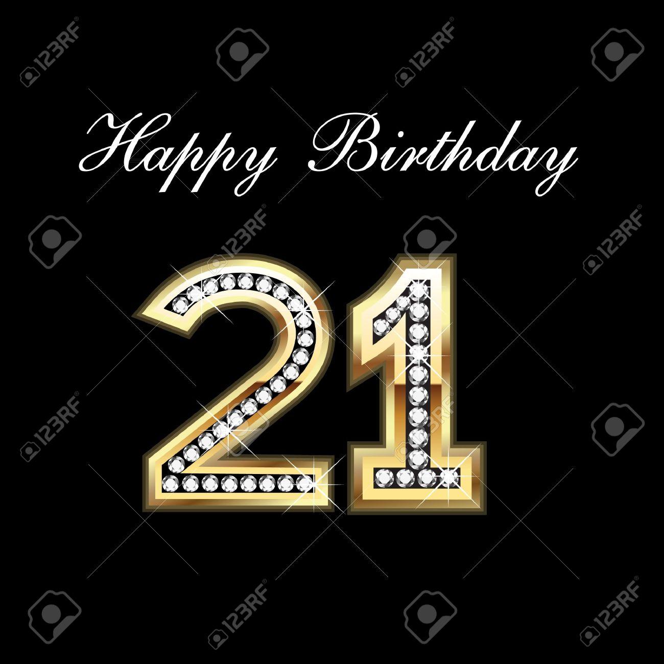 21st Happy Birthday Stock Vector - 10837025