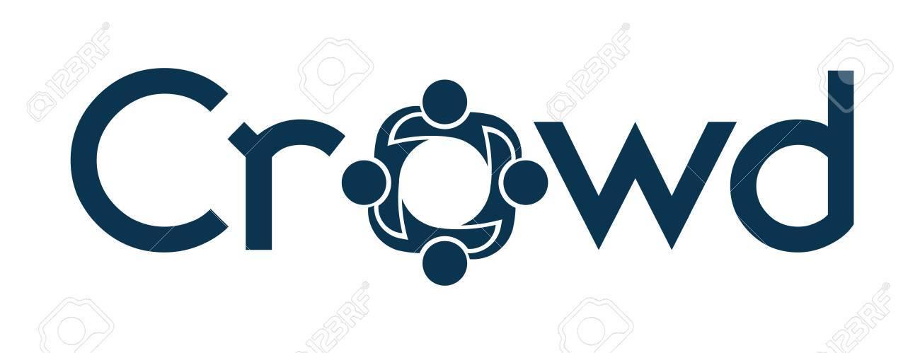 Crowd word Stock Vector - 12508276