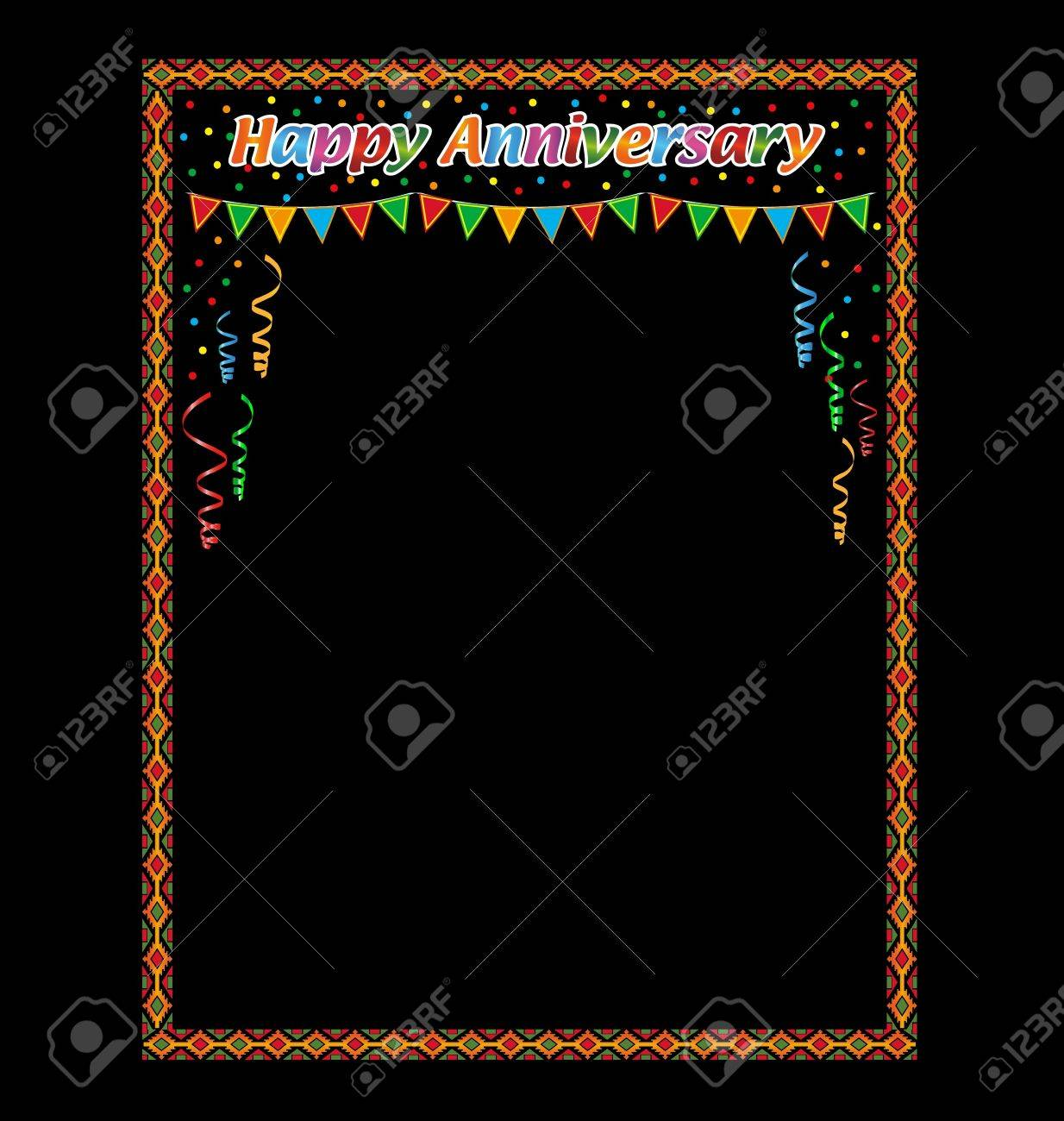 happy anniversary frame in black background stock vector 13554160