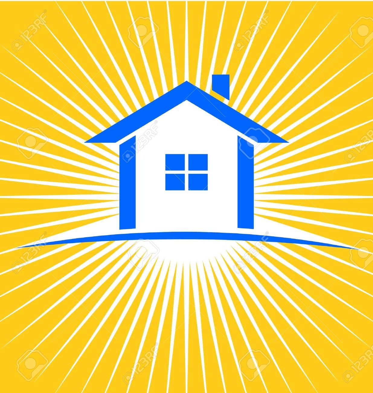 House Sunburst Stock Vector - 13577915