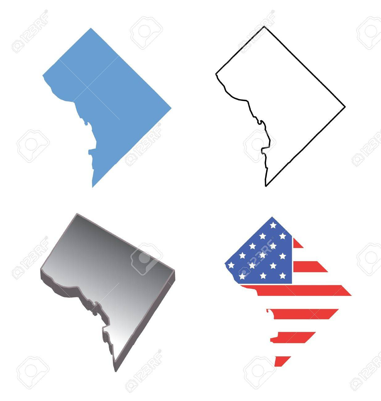 Washington Dc Stock Illustrations Cliparts And Royalty Free - Washington dc pop up map
