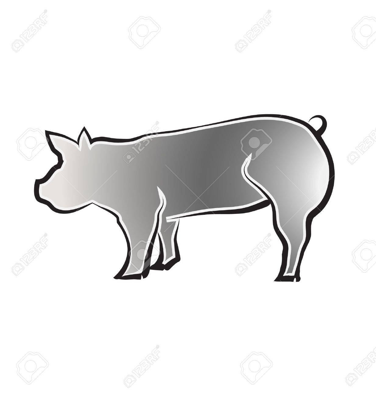 Big Pig Stock Vector - 14417468