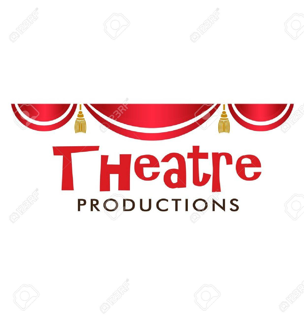 Theater Curtain in red and gold details Stock Vector - 16052374