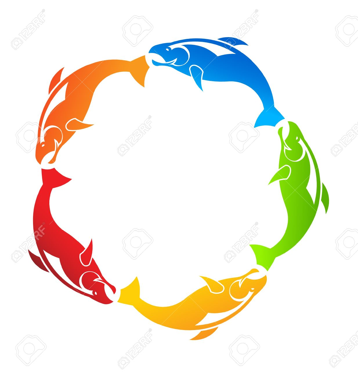 Fishes Circle Stock Vector - 17601638