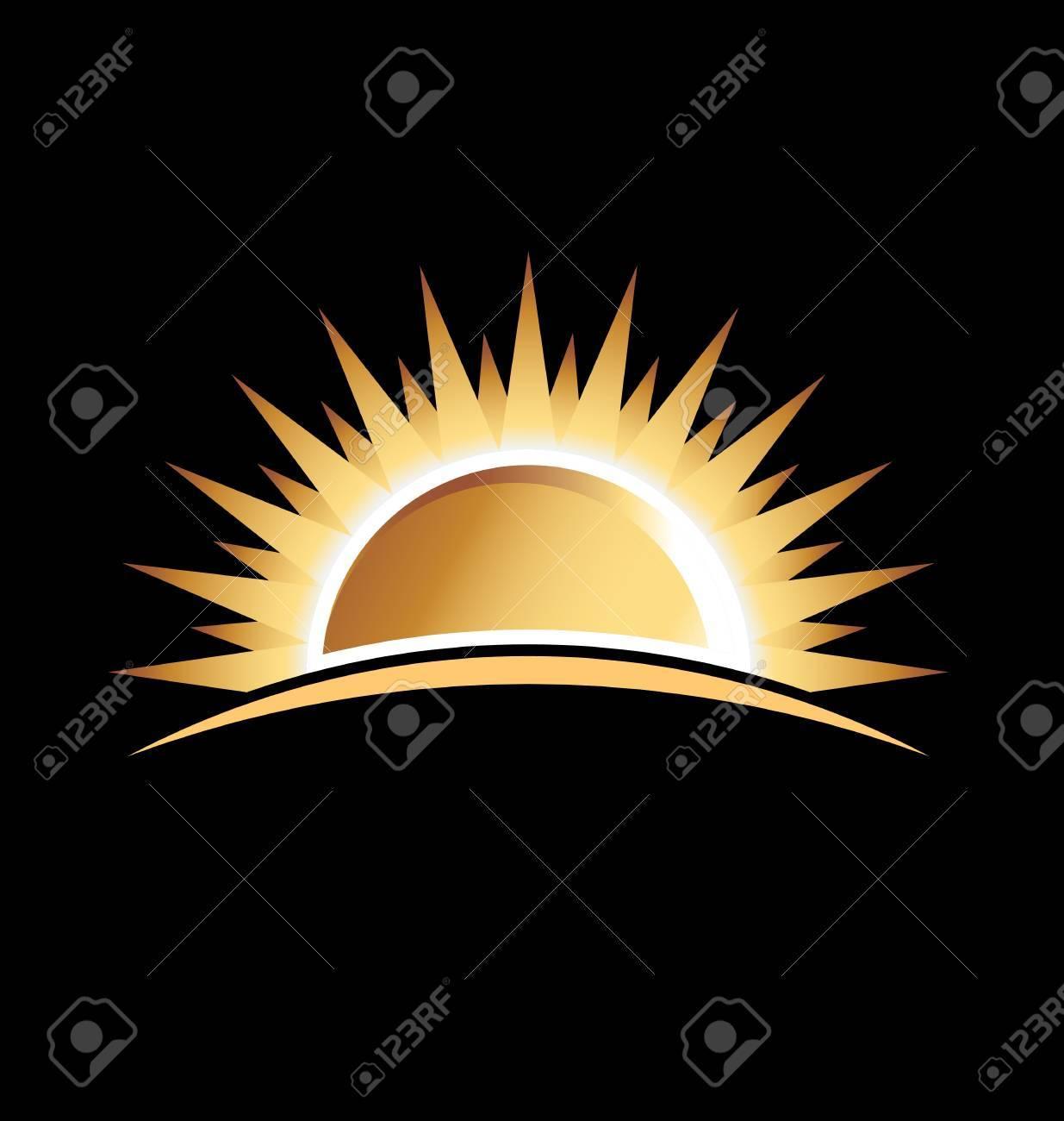 Gold sun Stock Vector - 18162200