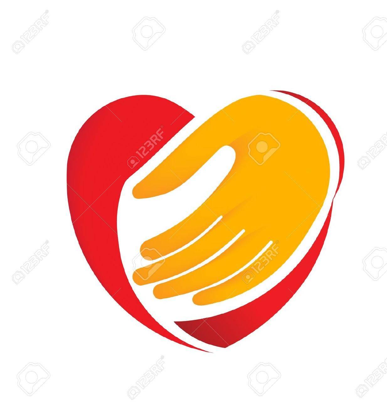 Hand holding heart Stock Vector - 19017737