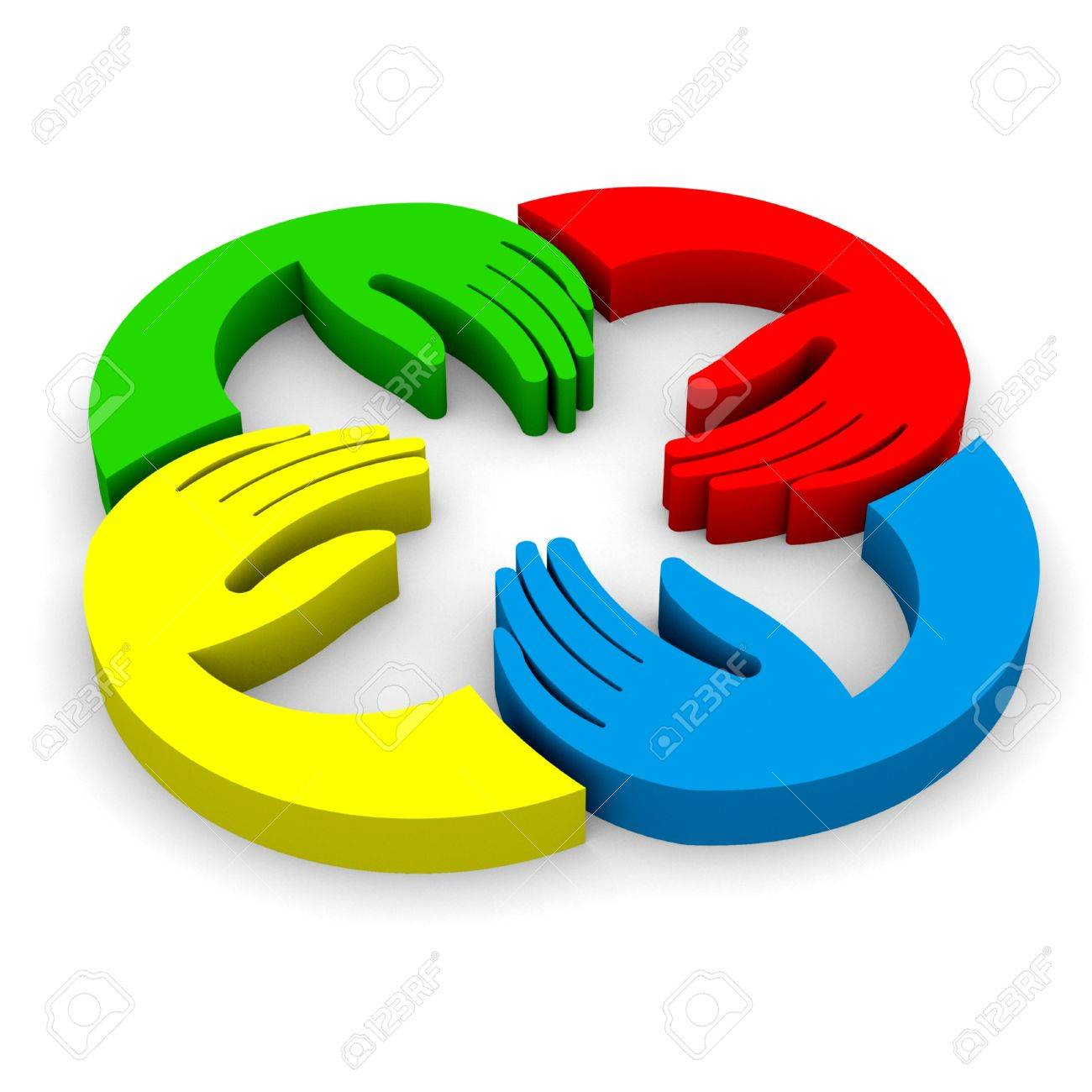 Hands connecting 3D view Stock Photo - 20269952