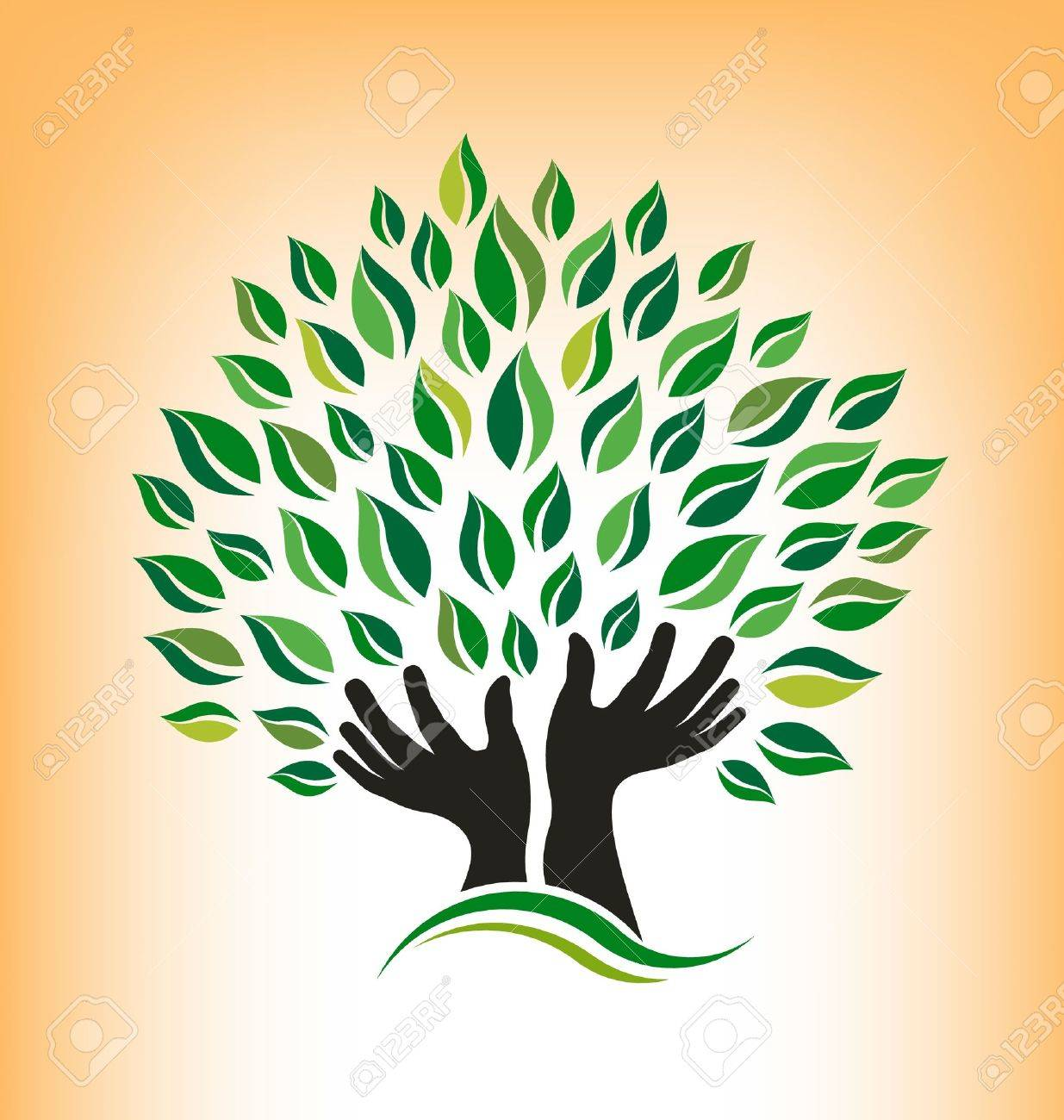 Praying Tree Stock Vector - 21953790