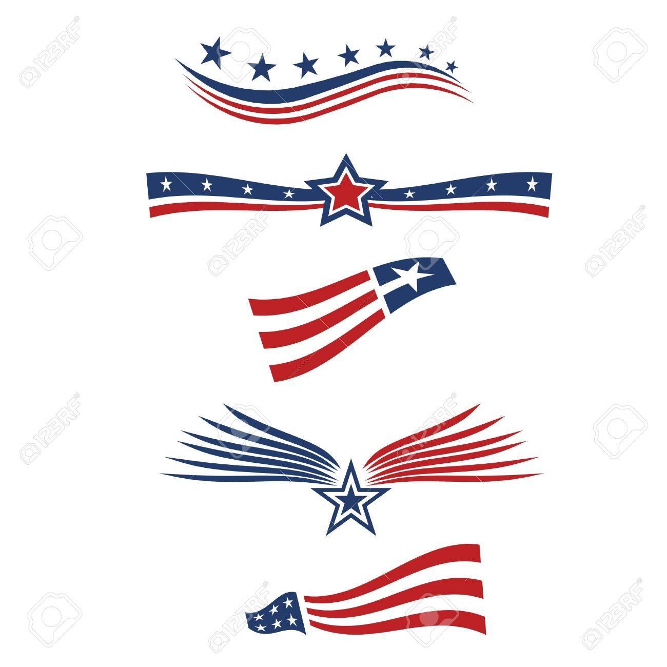 USA star flag design elements - 21953833
