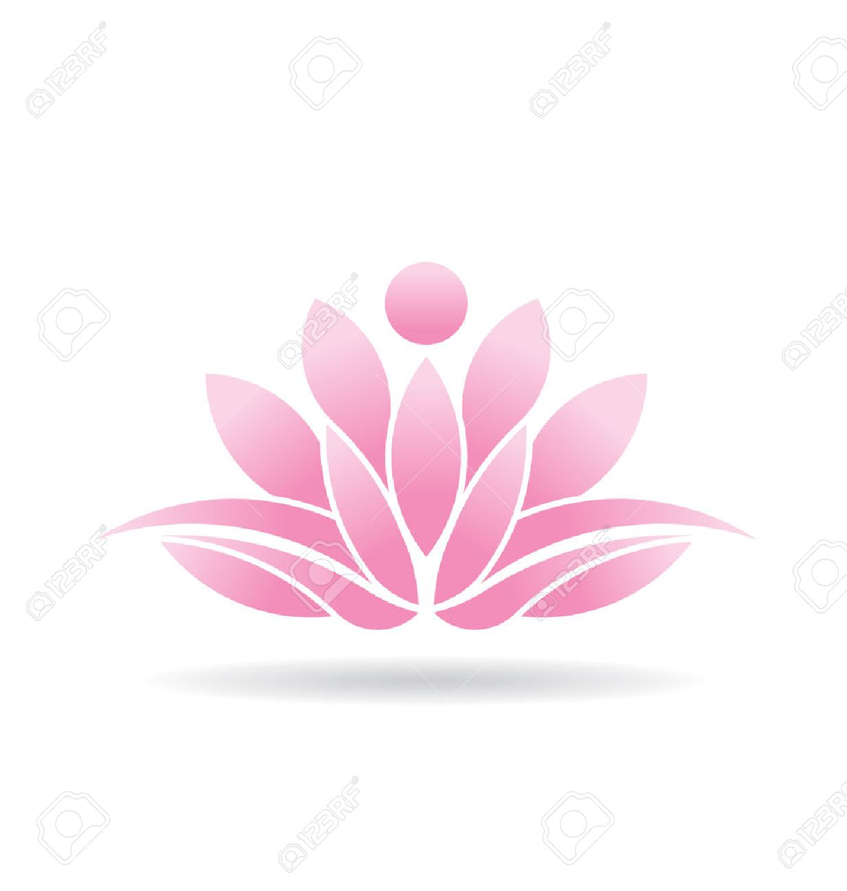 Lotus flower icon royalty free cliparts vectors and stock lotus flower icon stock vector 24475663 dhlflorist Images