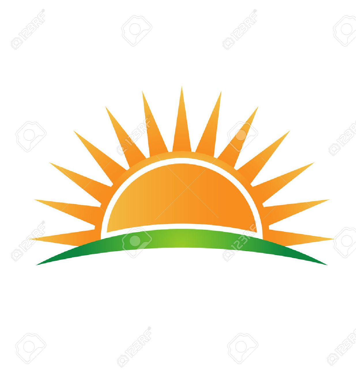 icon sun horizon royalty free cliparts vectors and stock rh 123rf com Grass Outline Grass Silhouette Vector Free