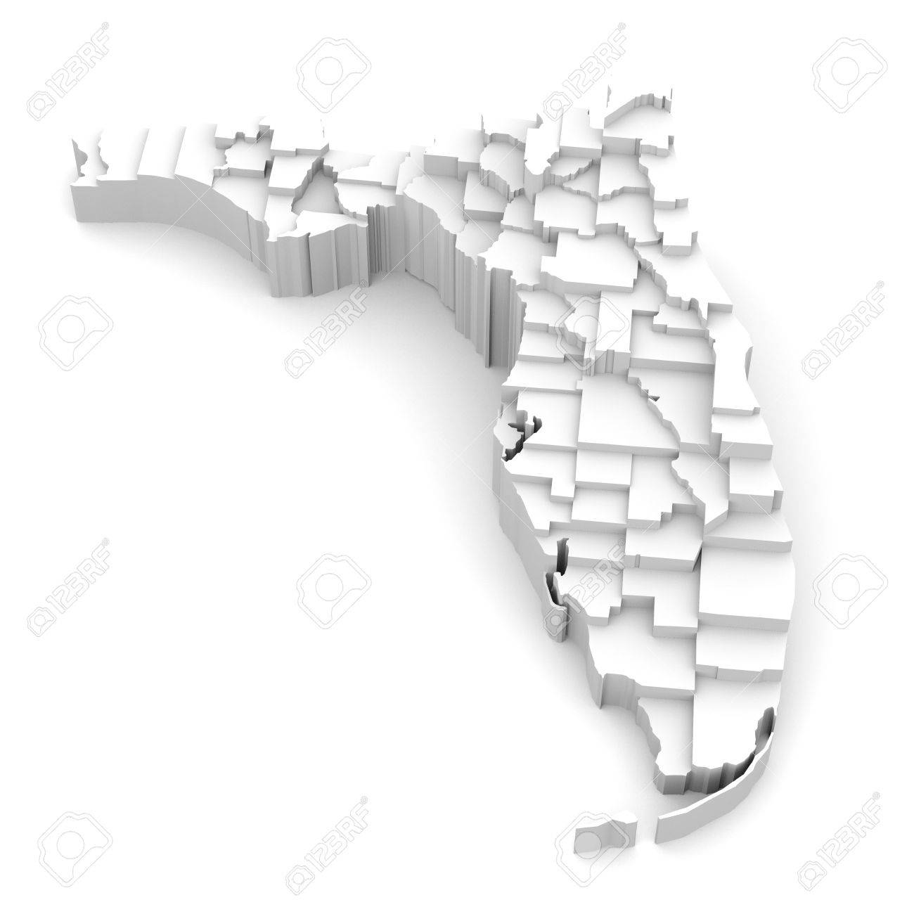 Florida Map By Counties In Various High Levels Abstraction Of - Florida map jigsaw puzzle