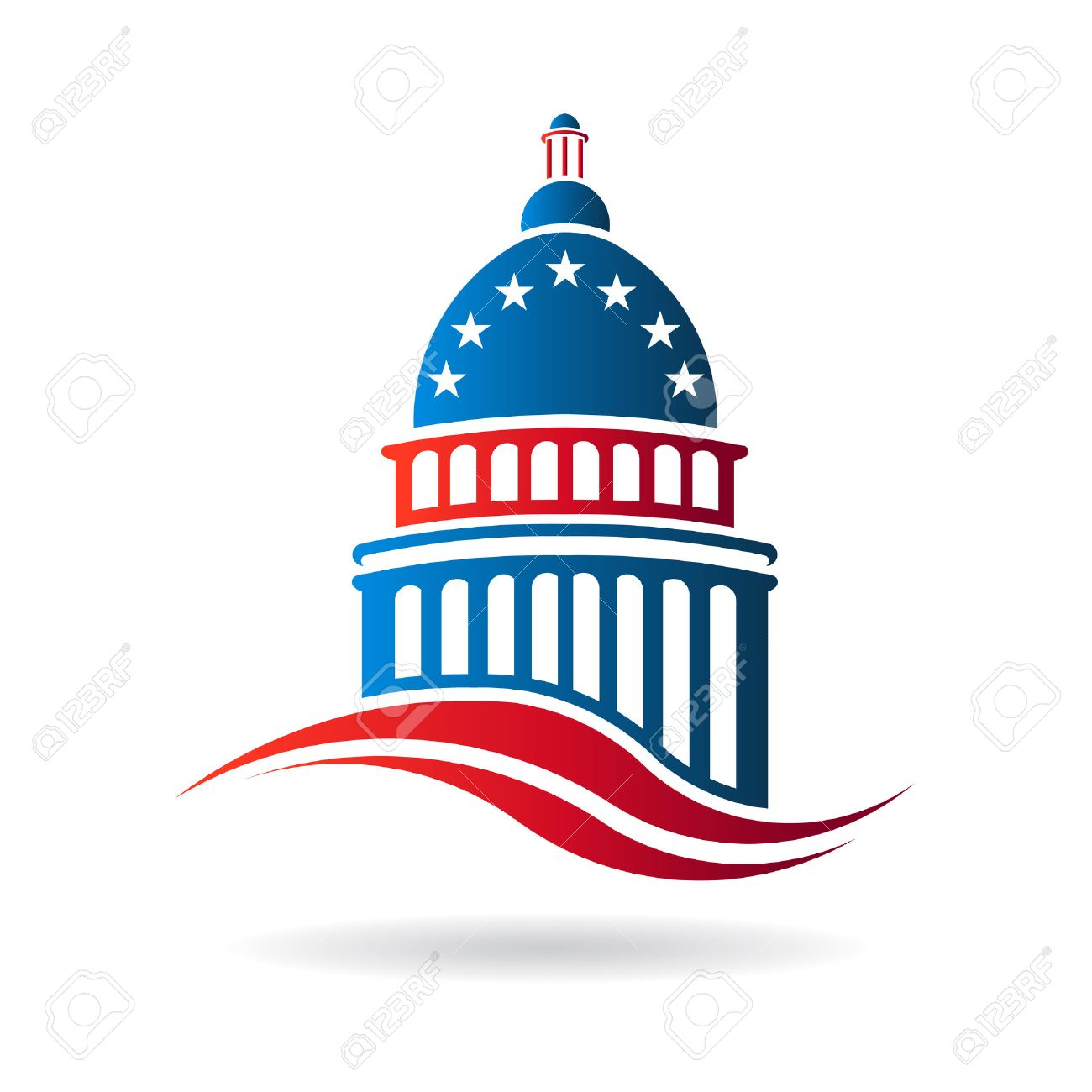 capitol building in red white and blue royalty free cliparts rh 123rf com capitol building vector artwork texas capitol building vector