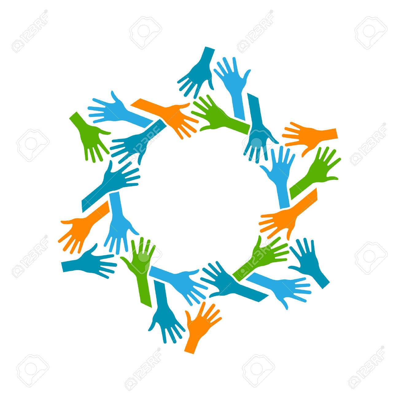 Hands Circle. Concept of teamwork and Community Archivio Fotografico - 39447351