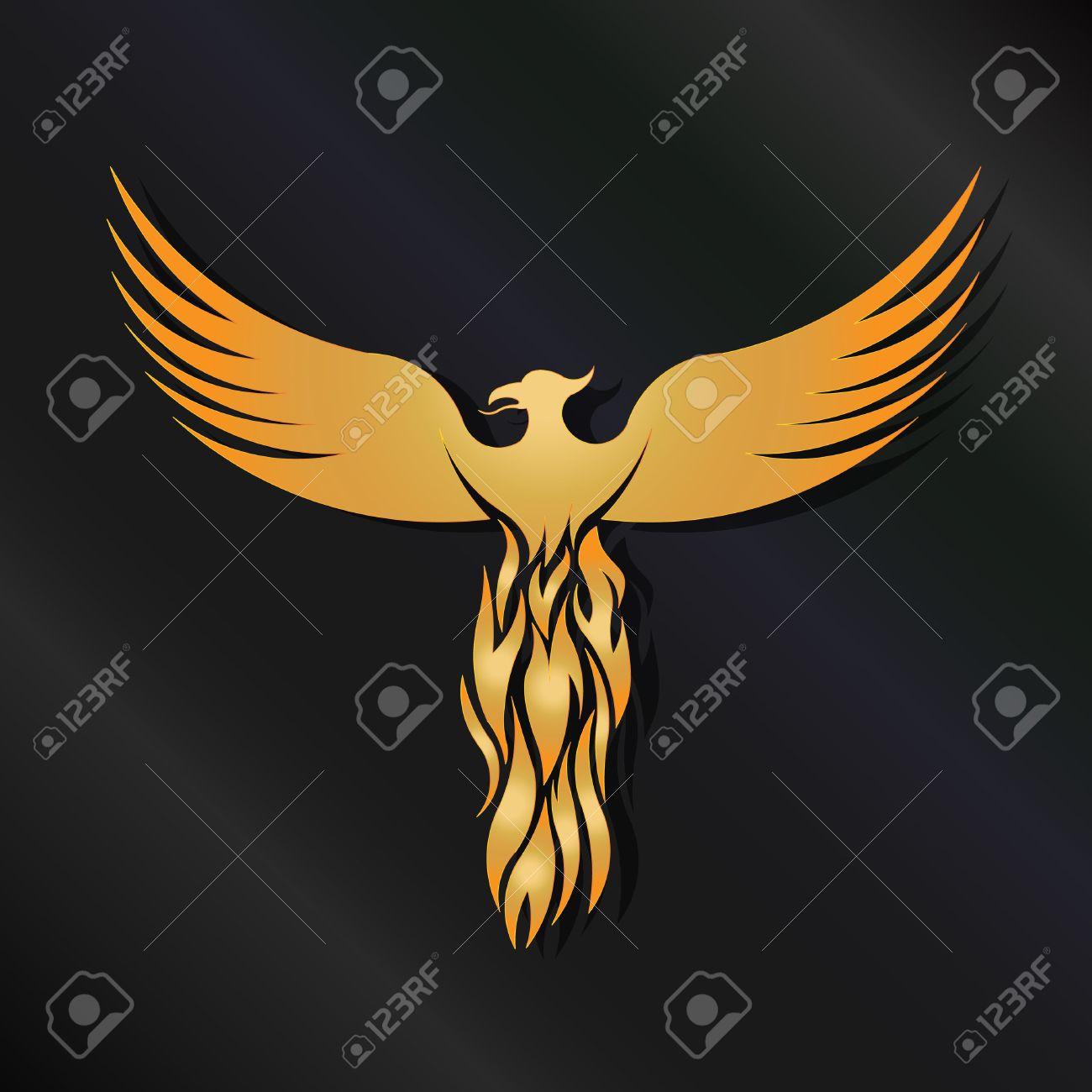 golden phoenix bird royalty free cliparts vectors and stock