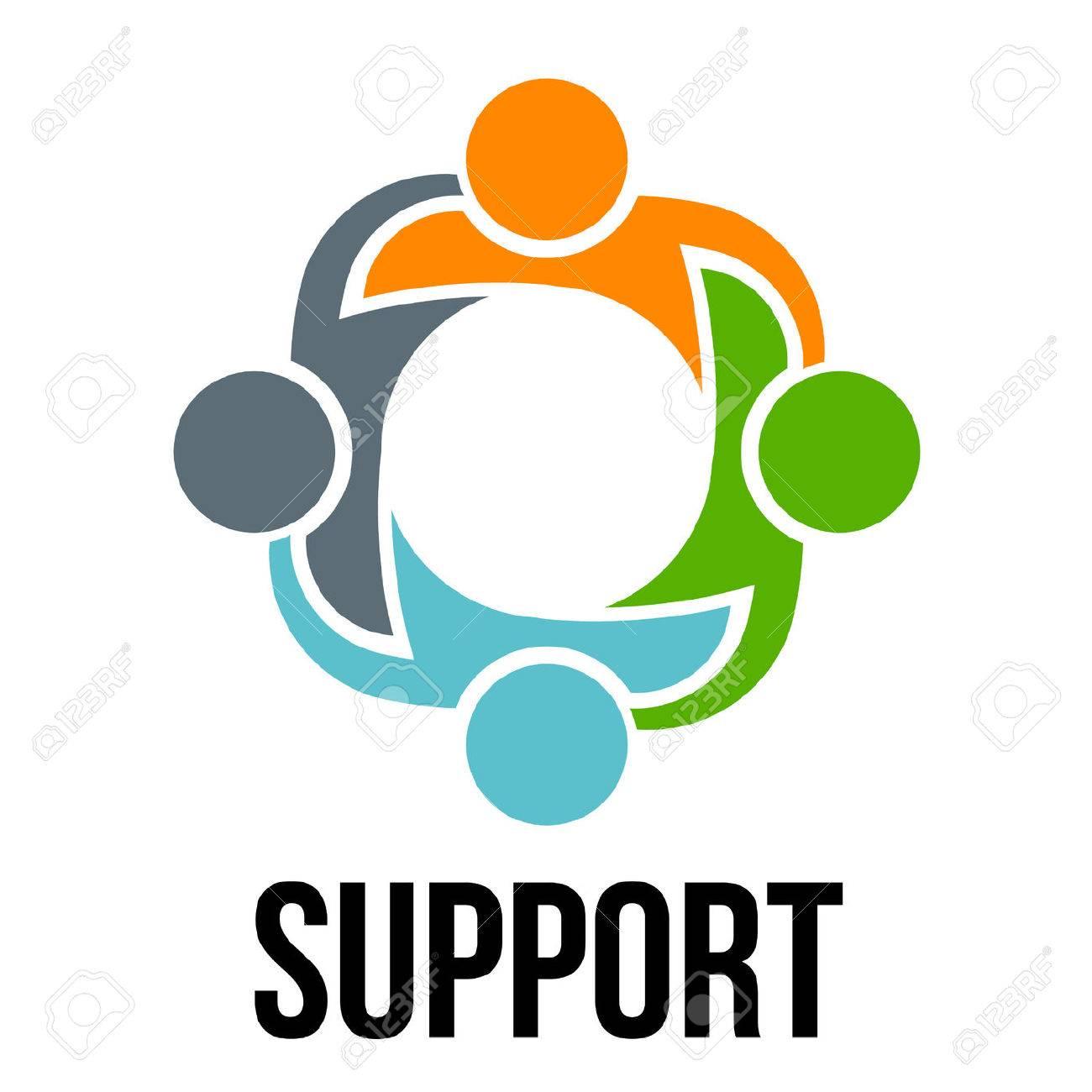 Support.Group di quattro persone Archivio Fotografico - 40574837