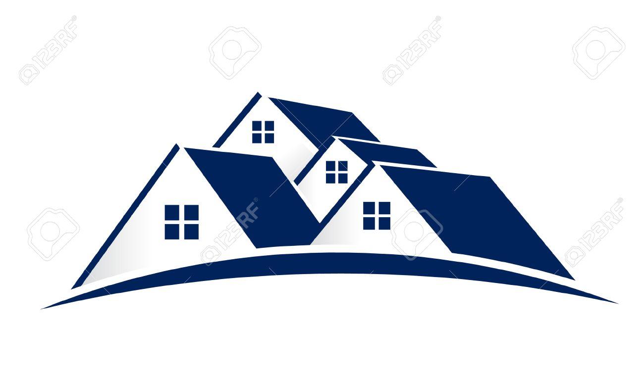House Logo. Group of houses Archivio Fotografico - 43154350