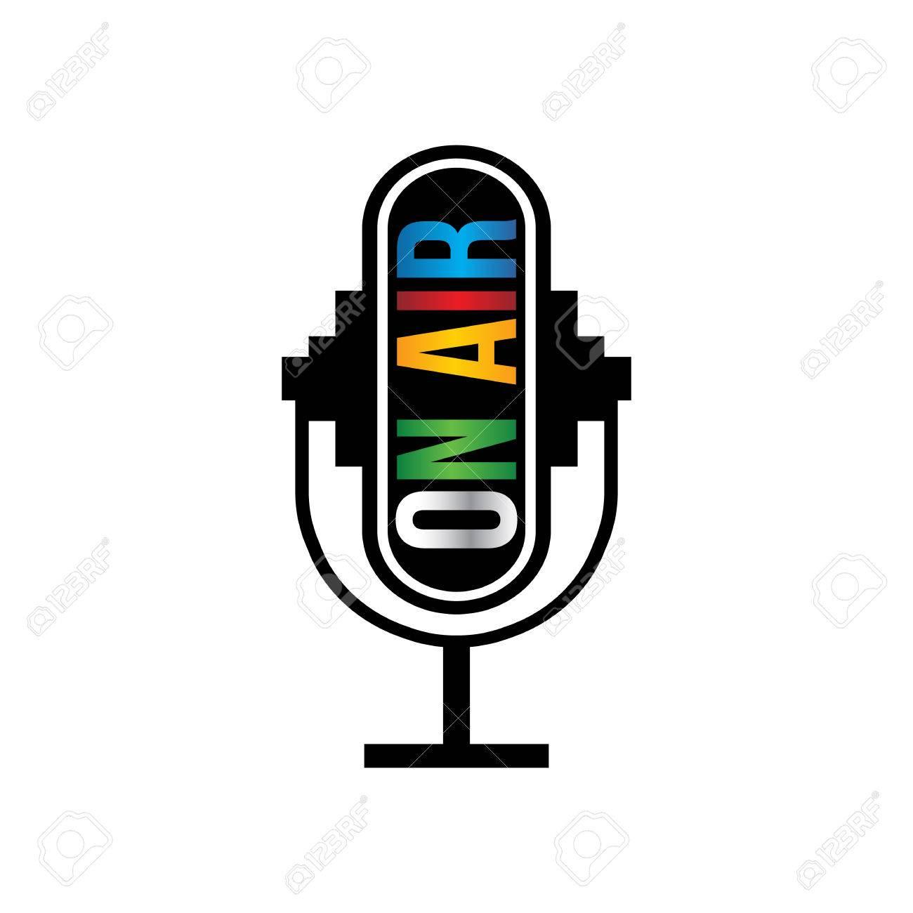 Retro microfono on air Archivio Fotografico - 44563963