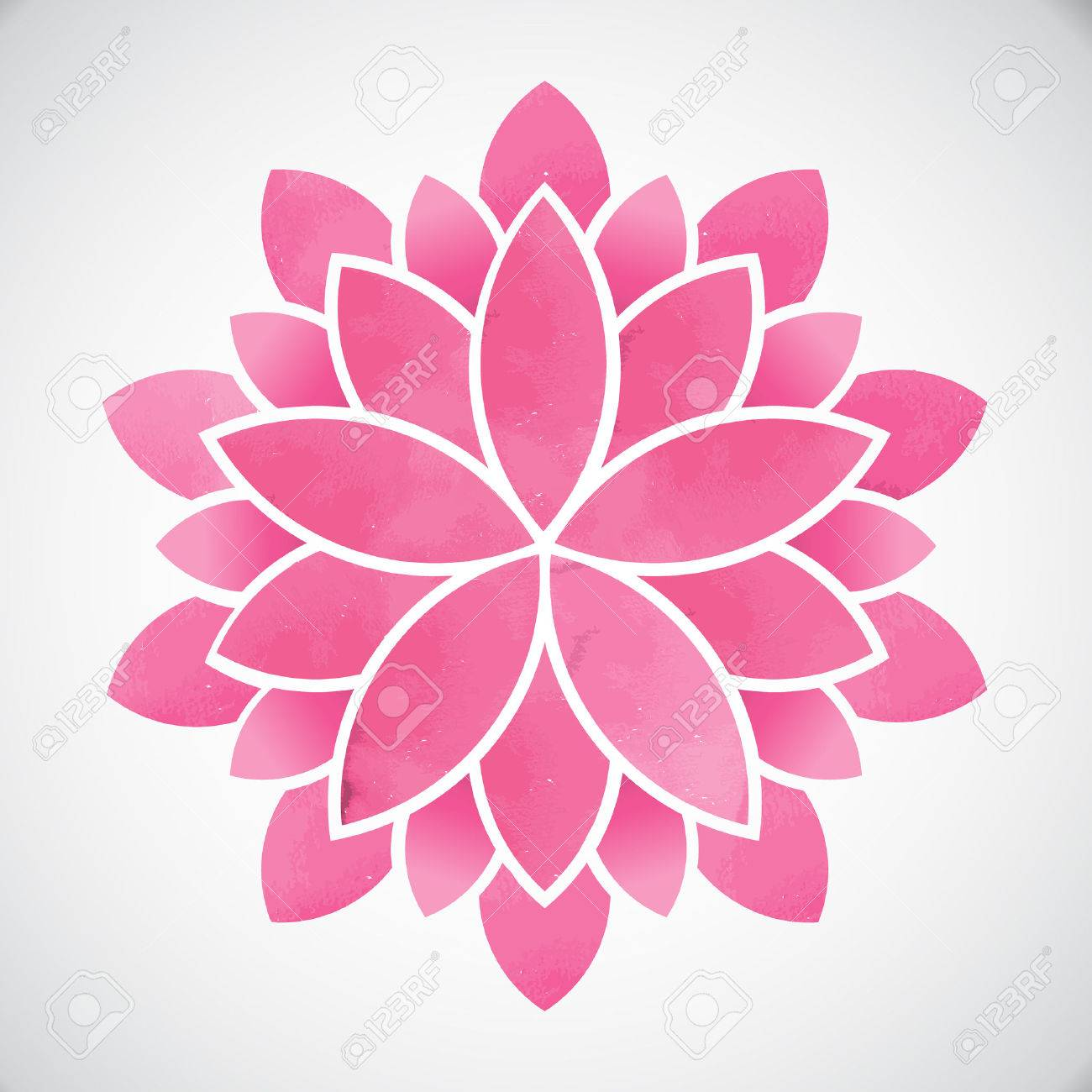Lotus Flowerwatercolor Style Vector Graphic Design Royalty Free
