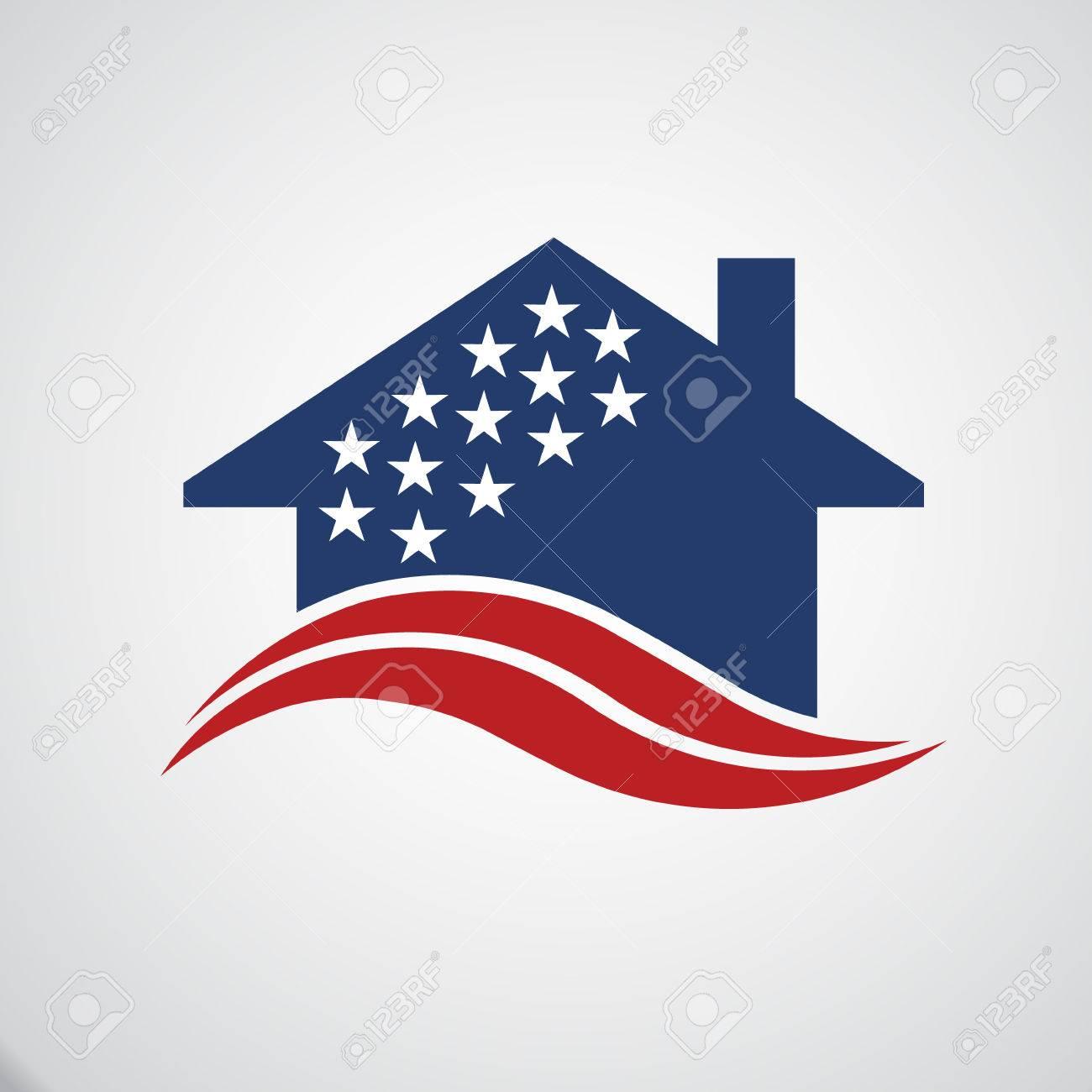 American house logo Archivio Fotografico - 50748988