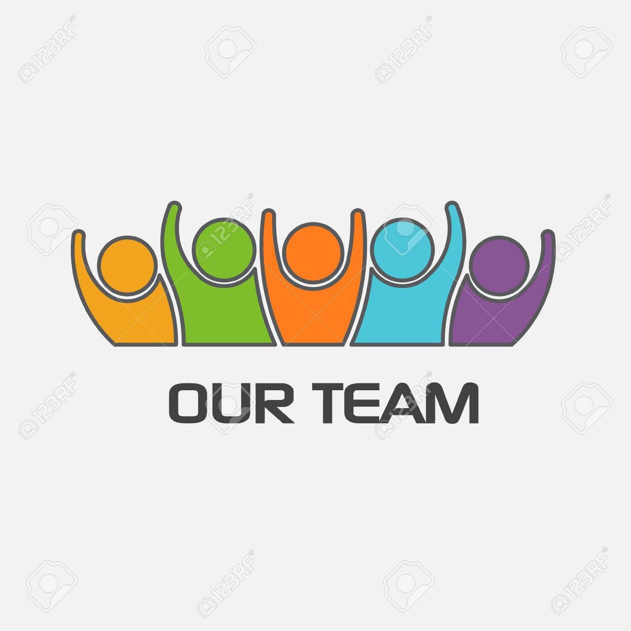 Il nostro gruppo team di persone. disegno vettoriale Archivio Fotografico - 50851015
