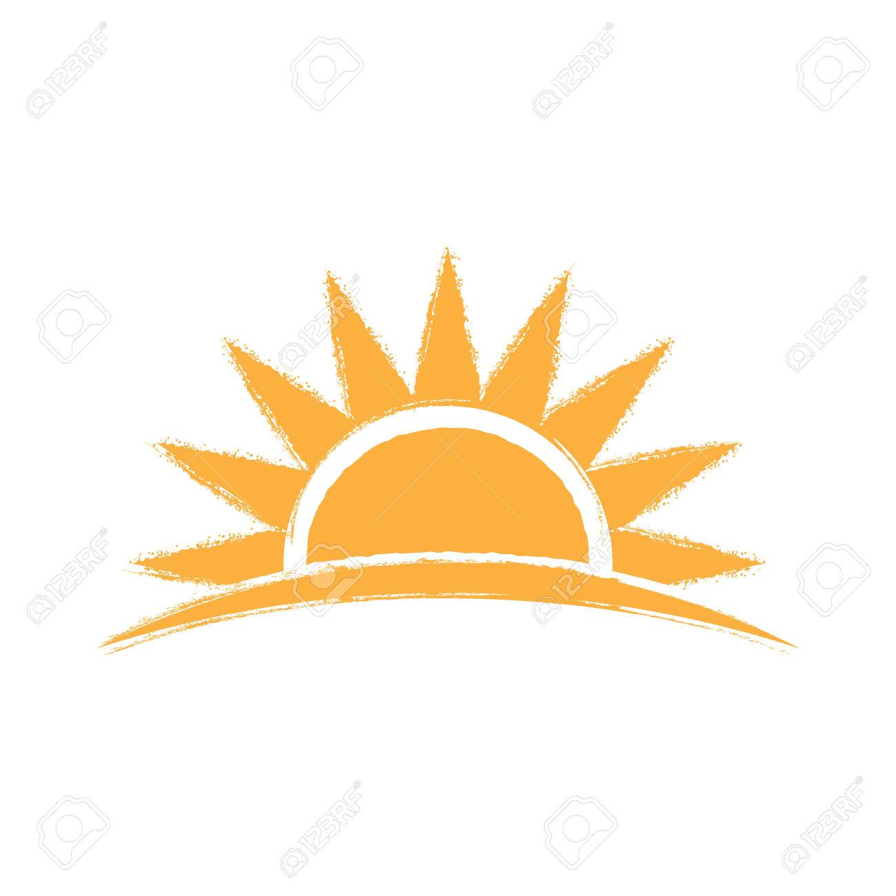 sunrise hand drawn logo vector graphic illustration royalty free rh 123rf com free vector art sunrise